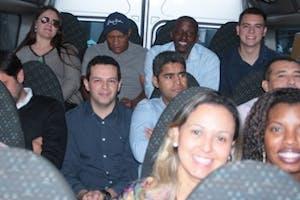 EQUIPE REUNIDA PARA O CITY TOUR